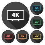 icono de 4k TV stock de ilustración