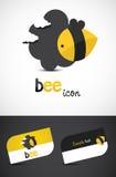 Icono de la abeja Imagen de archivo libre de regalías