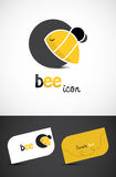 Icono de la abeja Imágenes de archivo libres de regalías