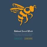 Icono de la abeja de la miel Ilustración del vector Foto de archivo