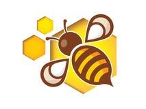 Icono de la abeja stock de ilustración