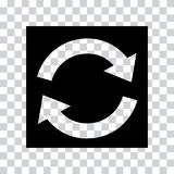 Icono de la actualización en fondo transparente Vector stock de ilustración