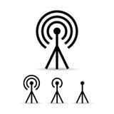 Icono de la antena de la señal de Internet stock de ilustración