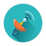 Icono de la antena de satélite Fotografía de archivo libre de regalías