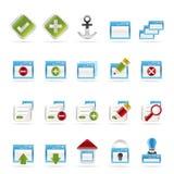 Icono de la aplicación, de la programación, del servidor y del ordenador libre illustration