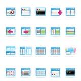 Icono de la aplicación, de la programación, del servidor y del ordenador Imágenes de archivo libres de regalías
