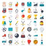 Icono de la aptitud, del deporte y de la salud Fotos de archivo libres de regalías