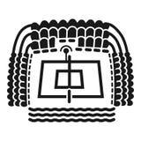 Icono de la arena del voleibol de playa, estilo simple libre illustration