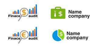 Icono de la auditoría de las finanzas (logotipo) Foto de archivo