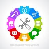 Icono de la ayuda de clientes Imágenes de archivo libres de regalías