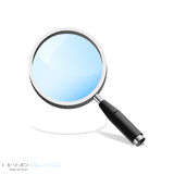 Icono de la búsqueda aislado. Fotografía de archivo libre de regalías