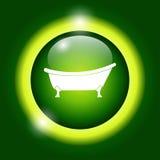 Icono de la bañera Foto de archivo libre de regalías