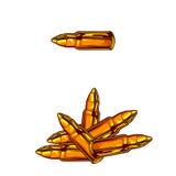 Icono de la bala de Calliber Fotografía de archivo