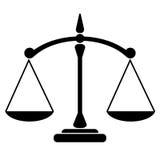 Icono de la balanza Fotografía de archivo