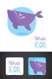 Icono de la ballena Fotografía de archivo libre de regalías