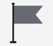 Icono de la bandera ilustrado Imagen de archivo libre de regalías
