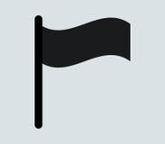 Icono de la bandera ilustrado Fotos de archivo