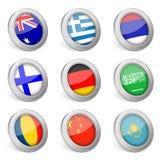 icono de la bandera nacional 3D Foto de archivo libre de regalías