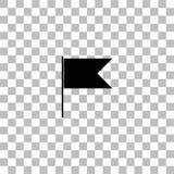 Icono de la bandera plano ilustración del vector