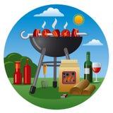 Icono de la barbacoa Imagen de archivo libre de regalías