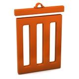 icono de la basura Fotos de archivo