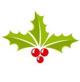 Icono de la baya del acebo de la Navidad Foto de archivo libre de regalías