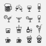 Icono de la bebida Imagen de archivo libre de regalías