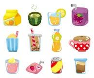 Icono de la bebida de la historieta Imagen de archivo libre de regalías