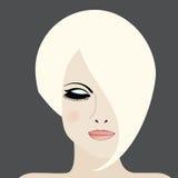 Icono de la belleza de la mujer Fotografía de archivo libre de regalías