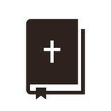 Icono de la biblia stock de ilustración