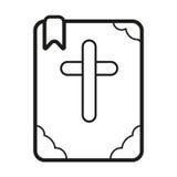Icono de la biblia Imagenes de archivo