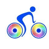 Icono de la bici fotografía de archivo