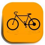 Icono de la bici Imágenes de archivo libres de regalías