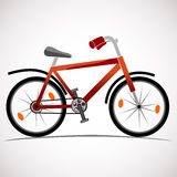 Icono de la bici de montaña Imágenes de archivo libres de regalías