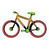 Icono de la bicicleta, historieta del icono stock de ilustración