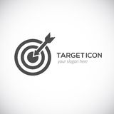 Icono de la blanco Logo Concept Fotografía de archivo