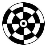 Icono de la blanco de los dardos, estilo simple ilustración del vector