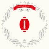 Icono de la bola del fútbol americano Imagen de archivo