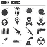 Icono de la bomba, arma Stock de ilustración
