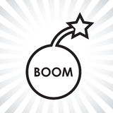 Icono de la bomba del auge libre illustration