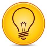 Icono de la bombilla Fotografía de archivo libre de regalías
