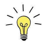 Icono de la bombilla Imagen de archivo libre de regalías