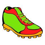 Icono de la bota del béisbol, historieta del icono Imagen de archivo libre de regalías