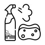 icono de la botella del espray stock de ilustración