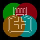 Icono de la botella de la medicina - p?ldora de la medicina ilustración del vector