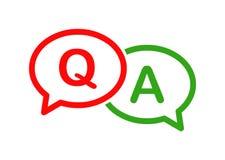 Icono de la burbuja de la pregunta y de la respuesta libre illustration