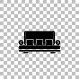 Icono de la butaca plano stock de ilustración