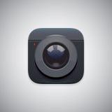 Icono de la cámara de la foto Imagen de archivo