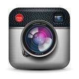 Icono de la cámara de la foto del vintage, imagen del vector Eps10 Fotos de archivo