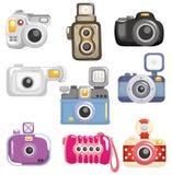 Icono de la cámara de la historieta Imagen de archivo libre de regalías